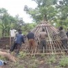 Community Constructs Three Teacher Huts