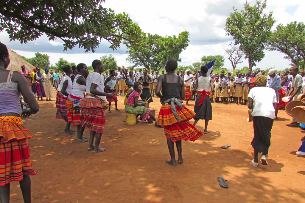 Agwata women's group doing welcome dance