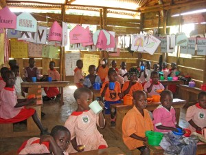 Lunch time at the Maranatha primary school in Mityana Uganda