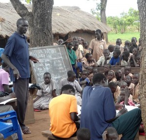 Writing letters is not common in Uganda--children need to learn about it