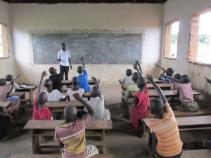 Northern Uganda classroom. Many of our sponsored students attend this primary school.