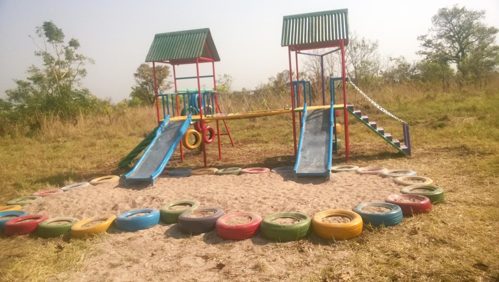 Large play structure for Agwata School playground
