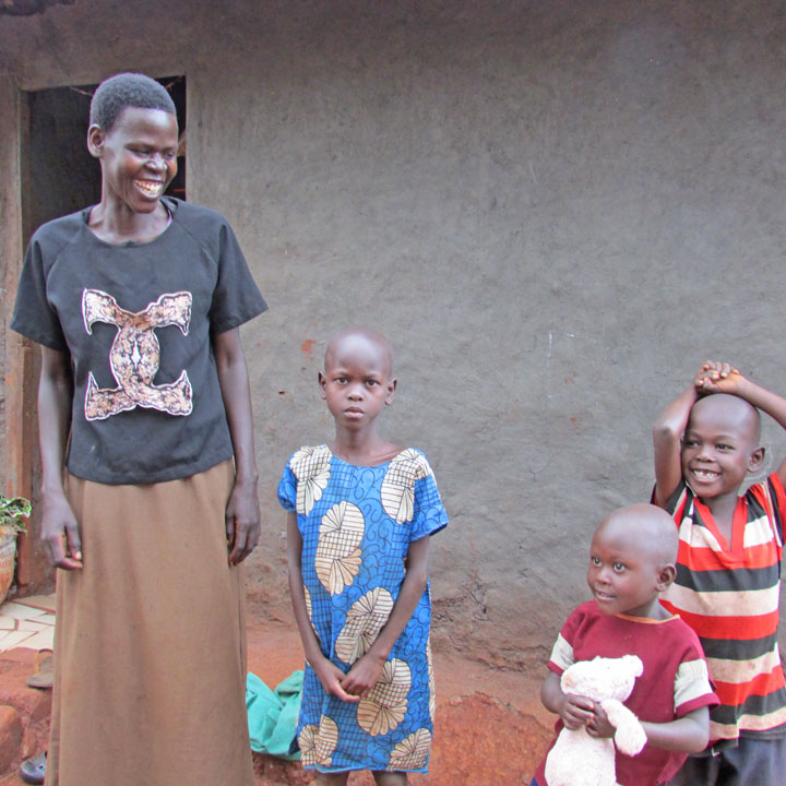 Alum at home in the Jinja slums.