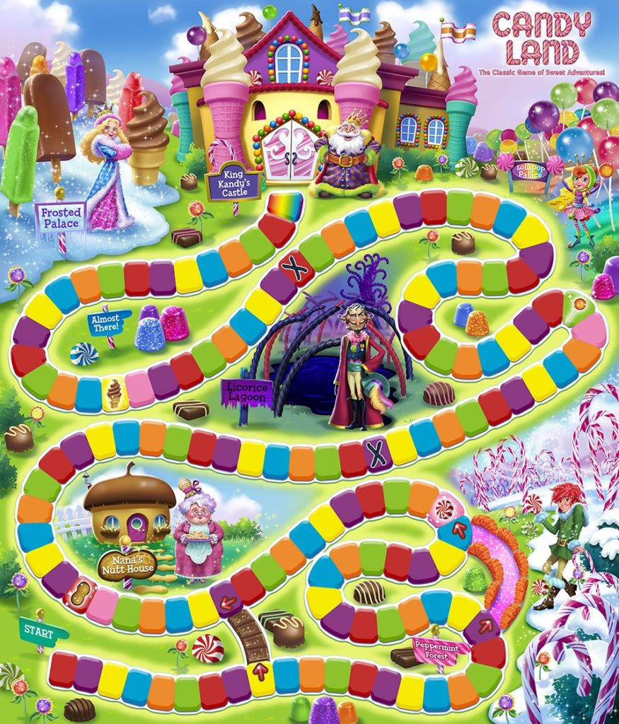 Candyland and other pre-school box games needed.