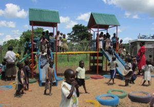 Northern Uganda playground - Agwata village