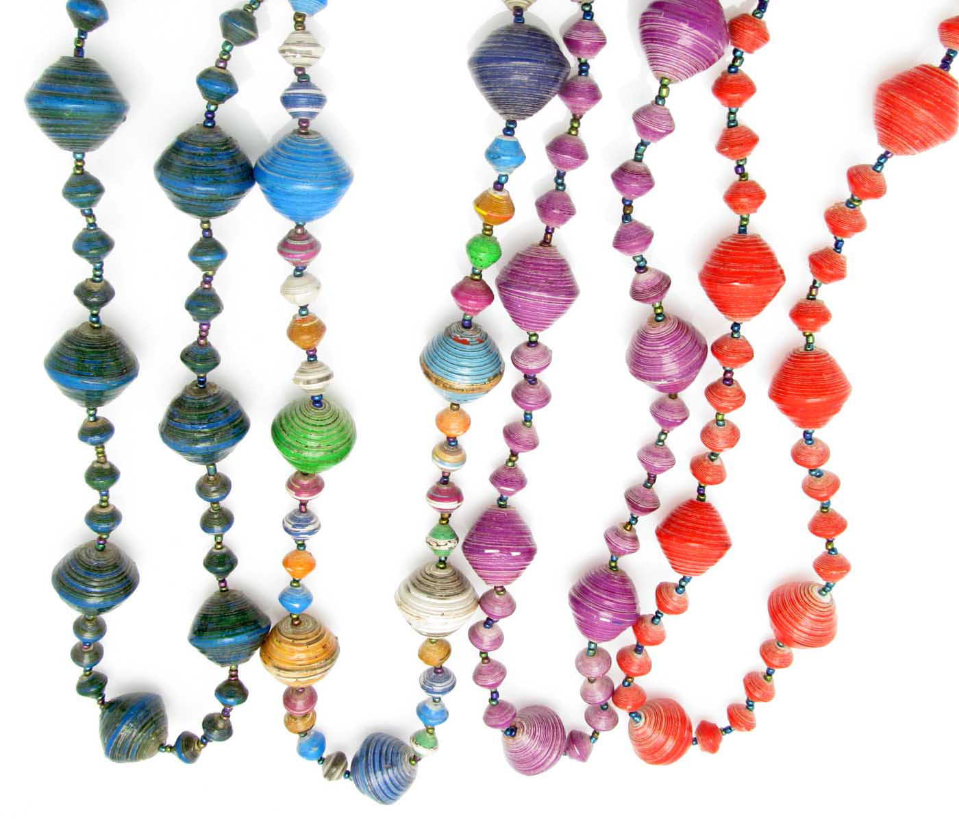 Paper beaded necklaces from Africa