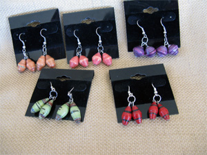 2 bead swinging earring
