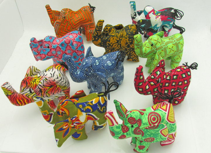 Stuffed animals - elephants
