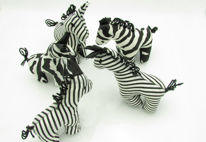 Stuffed animals - zebras
