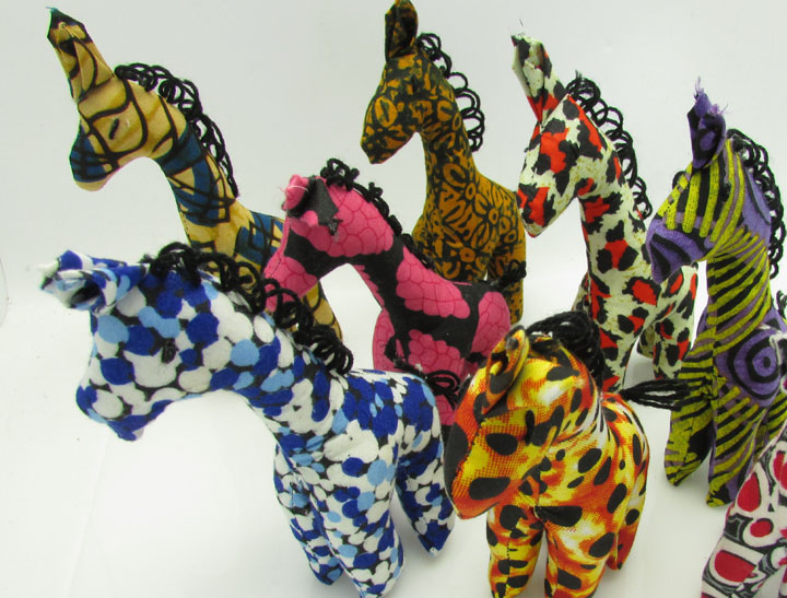 Stuffed animals - giraffes