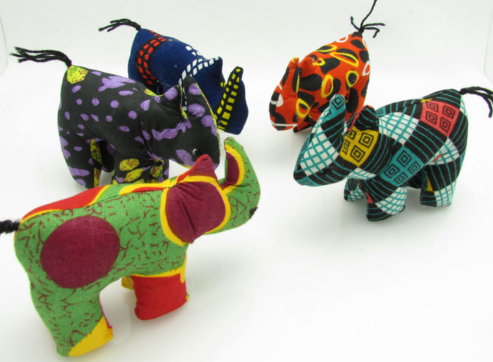 Stuffed animals - rhinos