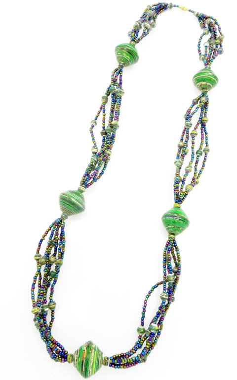Cecilia's Specialty Necklace - in green