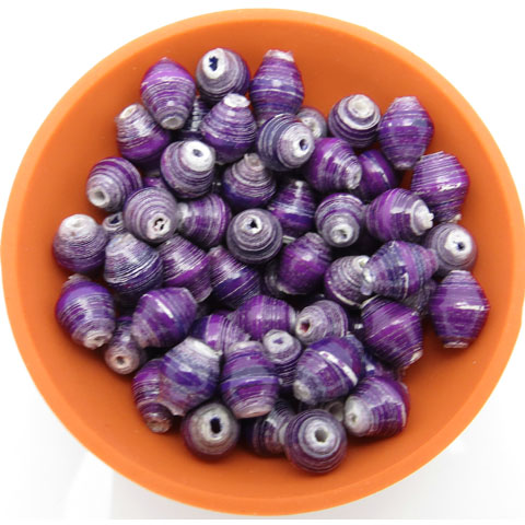Mini cone beads - purple