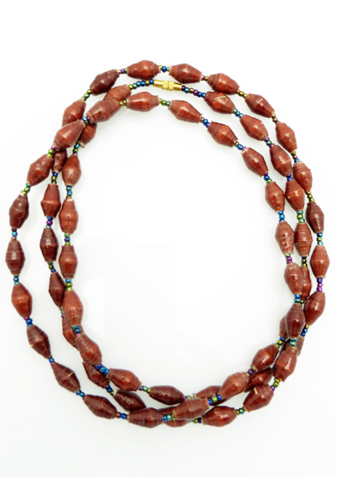 Brown long necklace