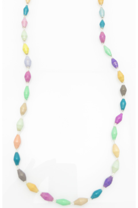 Multi-color pastel necklace