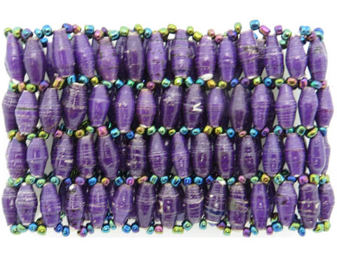 4-wide bracelet - purple