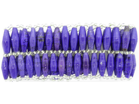 Royal purple double wide bracelet