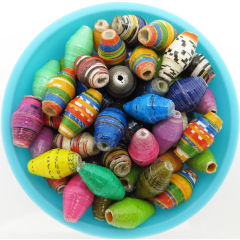 Large hole beads - multicolor
