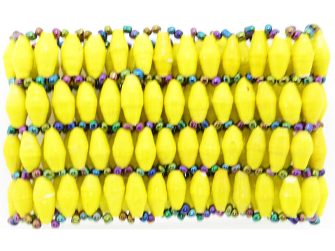 4-wide bracelet - yellow