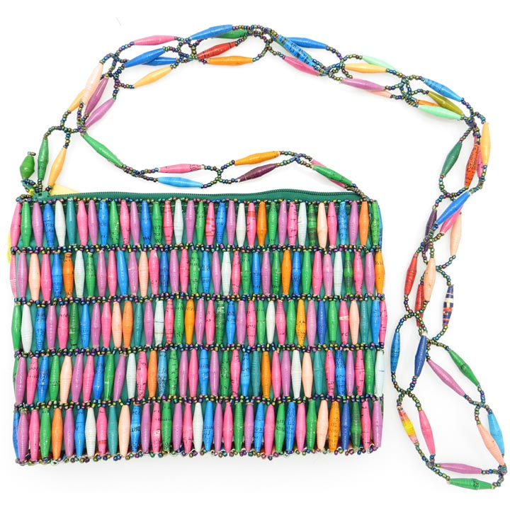 Beaded purse - multicolor