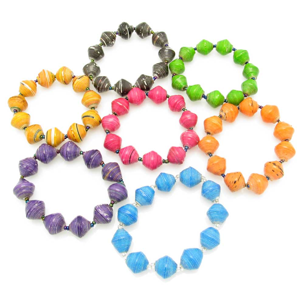Bracelet - round bead in solid colors
