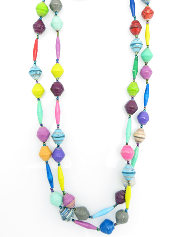 *New pattern* extra long necklace - multi-color and more
