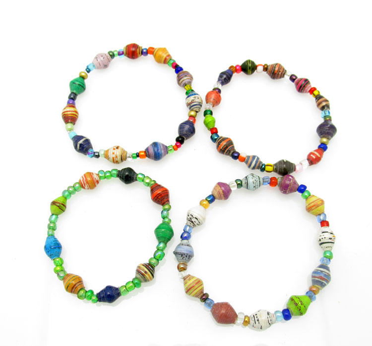 Bracelet - multi-color small chunks