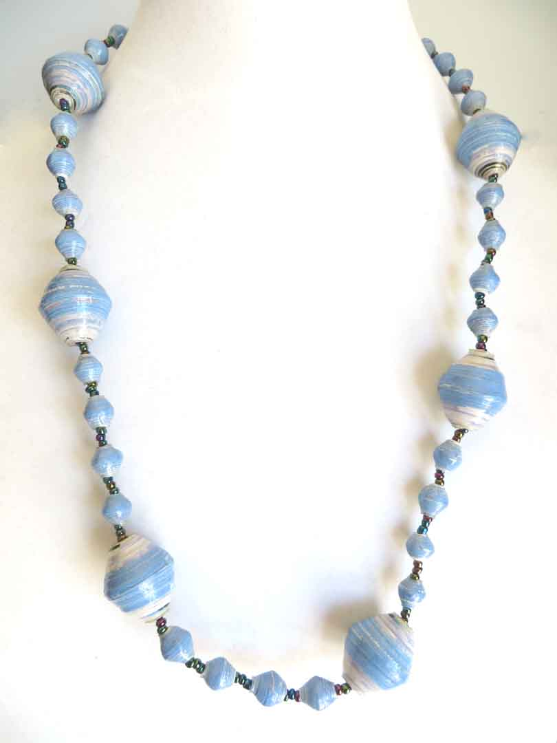 Light blue gigantic bead necklace