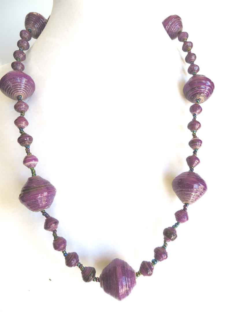 Dark purple gigantic bead necklace