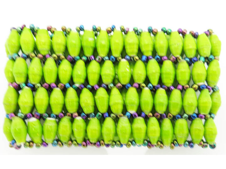 4-wide bracelet - lime green