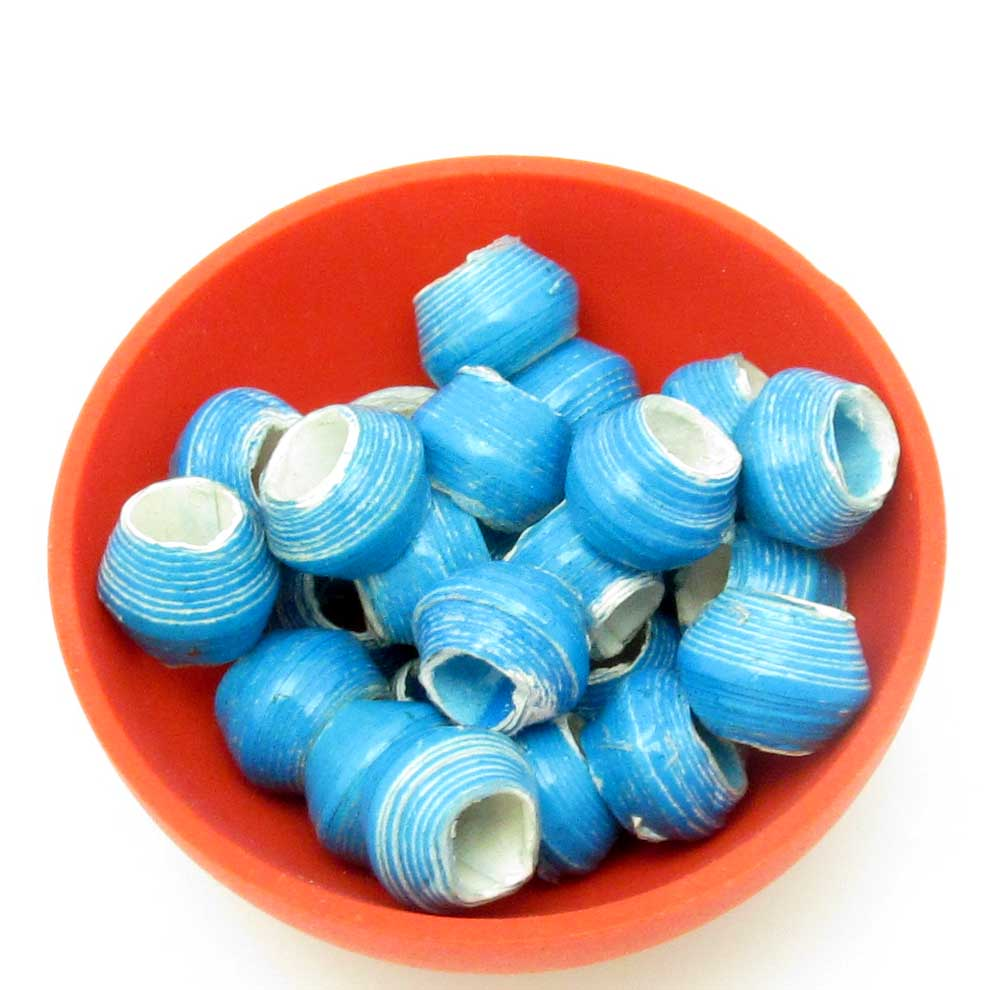Specialized beads - wide hole turquoise