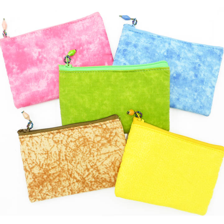 Cloth Coin Purse - bright solid colors