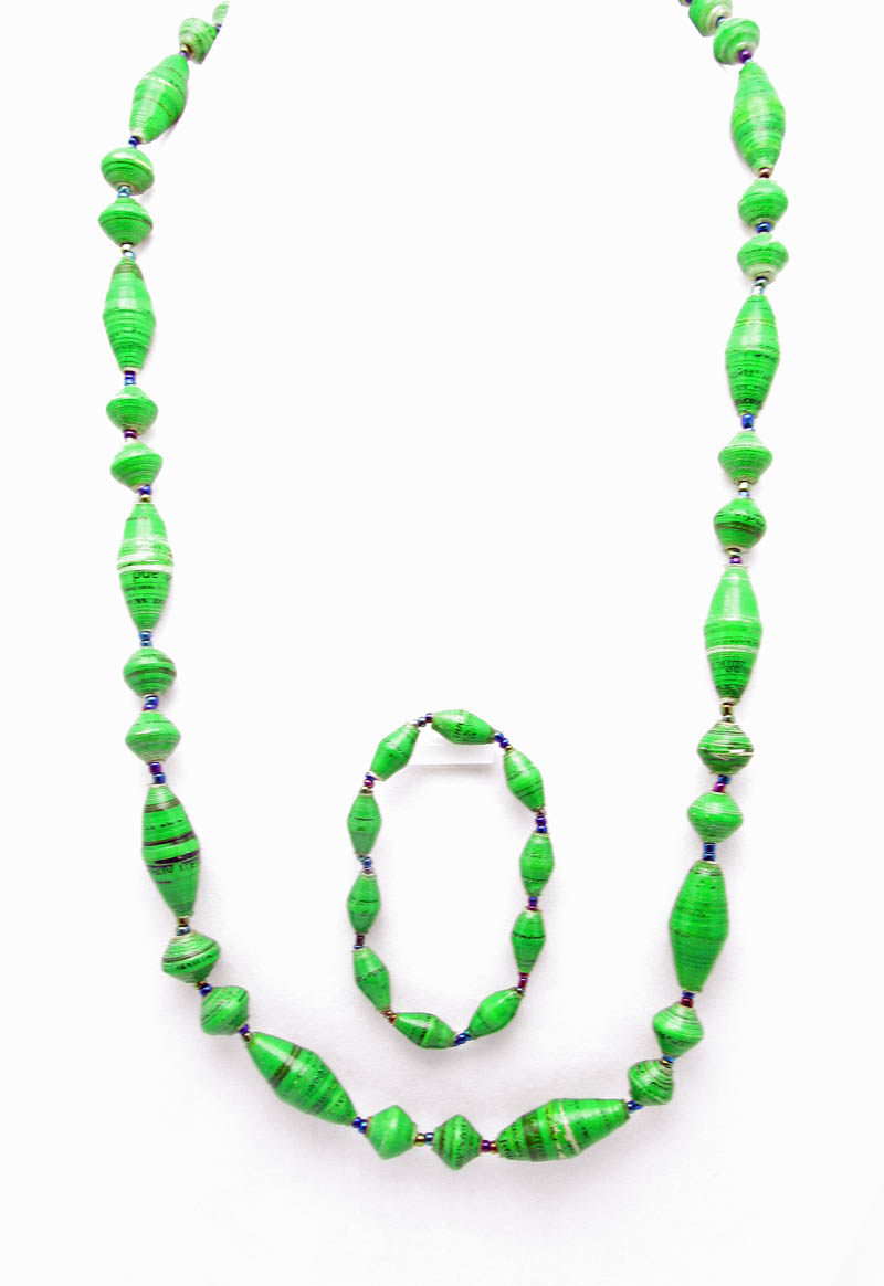 Bright green oval 2 pc set