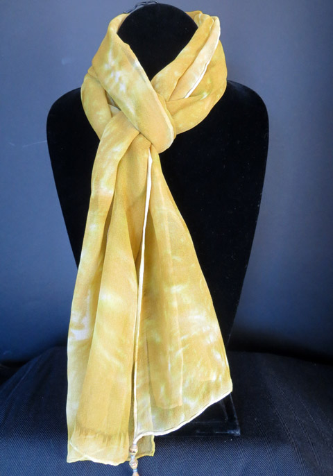 Chiffon (silk) scarf - muted gold