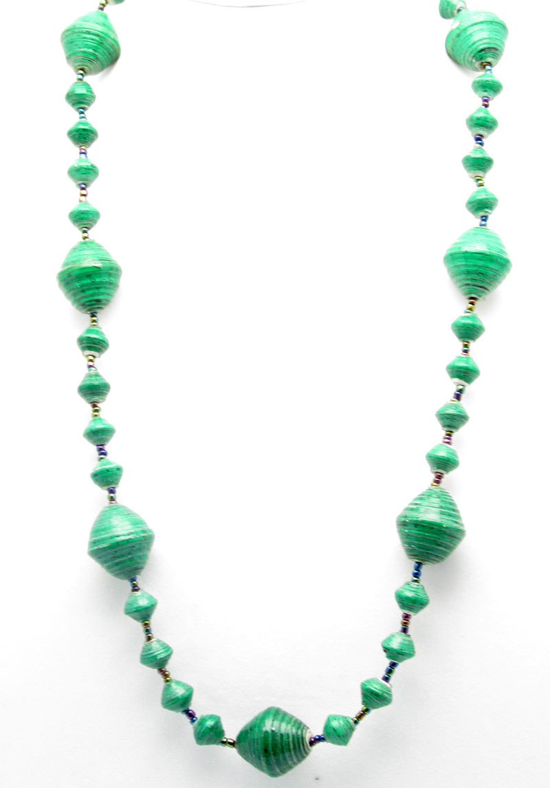 Green gigantic bead necklace