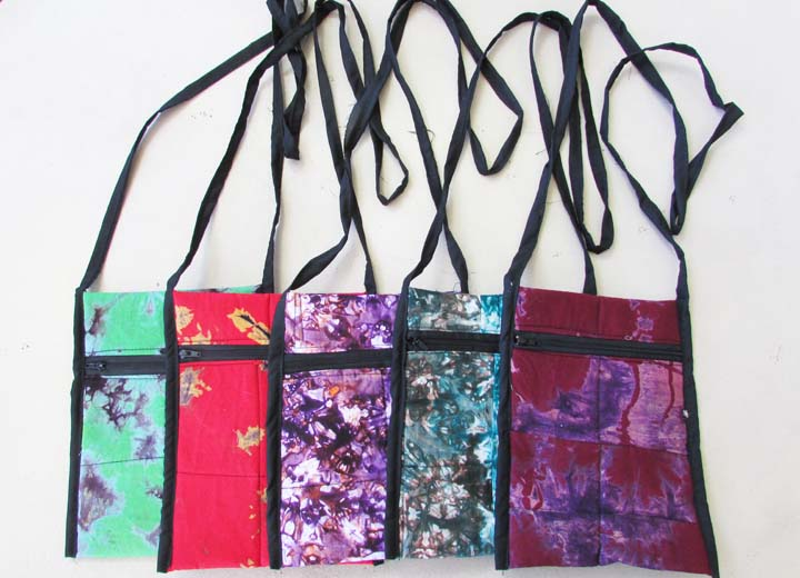 Shoulder strap purse - tie-dye blends