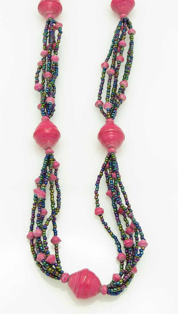 Cecilia's Specialty Necklace - in hot pink