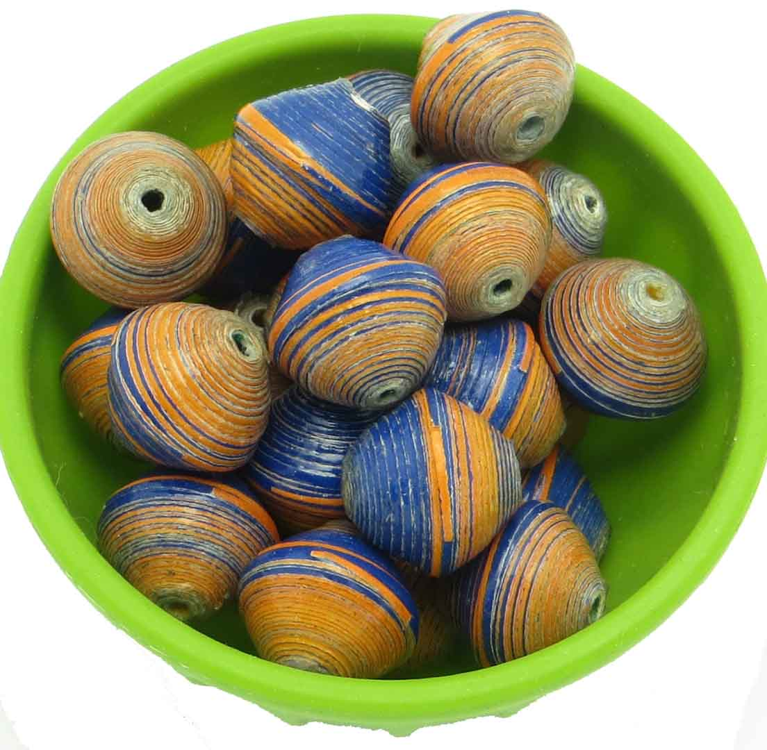 Round beads - Bronco striped