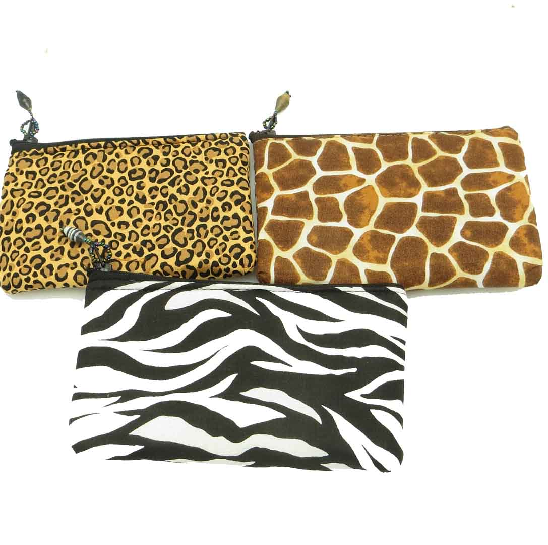 Cloth Coin Purse - animal print