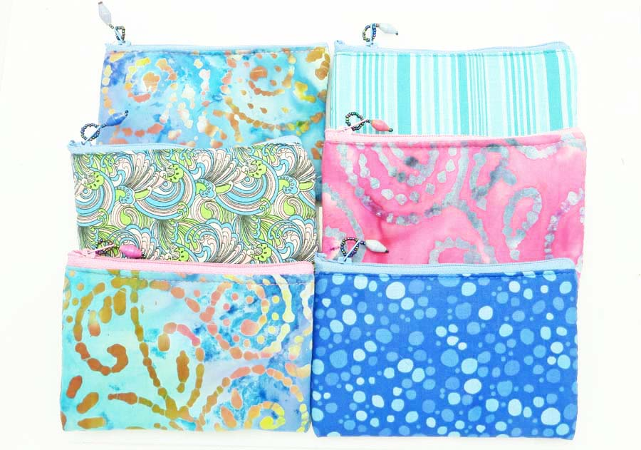 *Cloth Coin Purse* - summer blues & tie dyes
