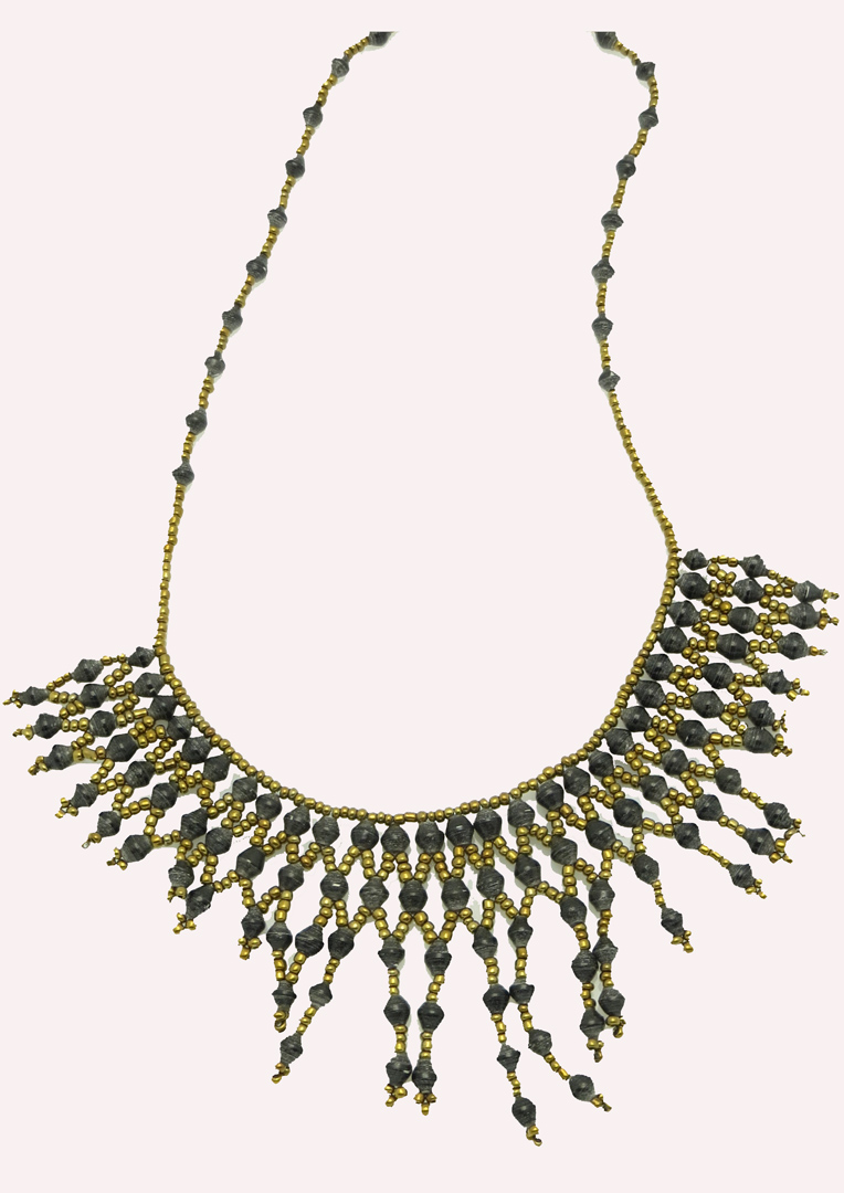 Collar Necklace - black