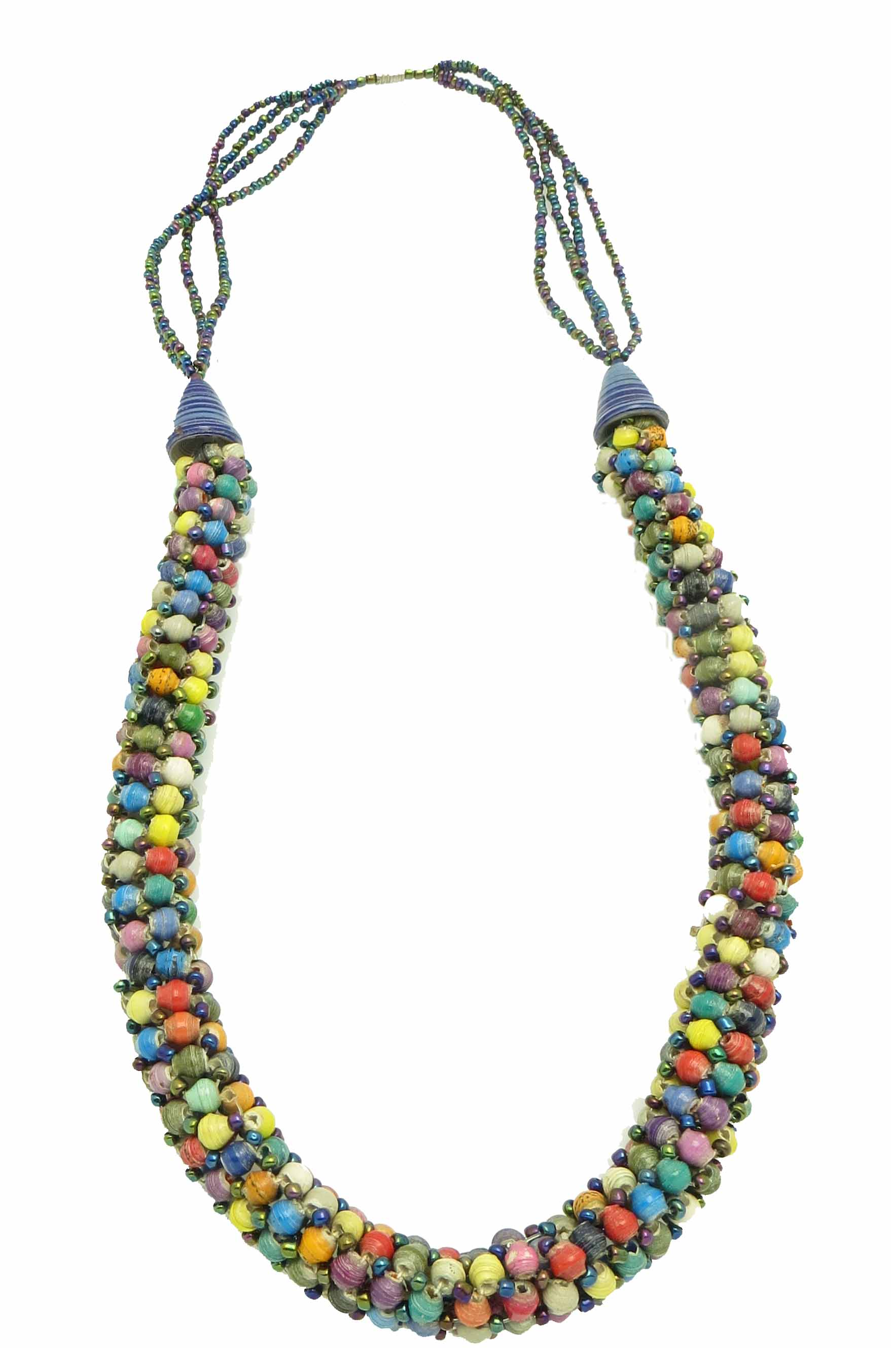 **Specialized multicolor tube necklace**