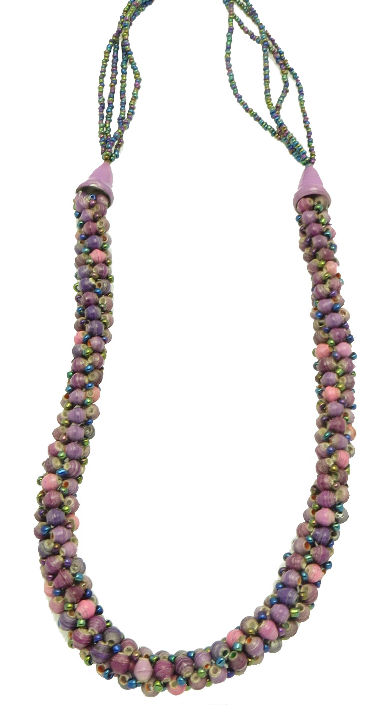 **Specialized shades of purple tube necklace**