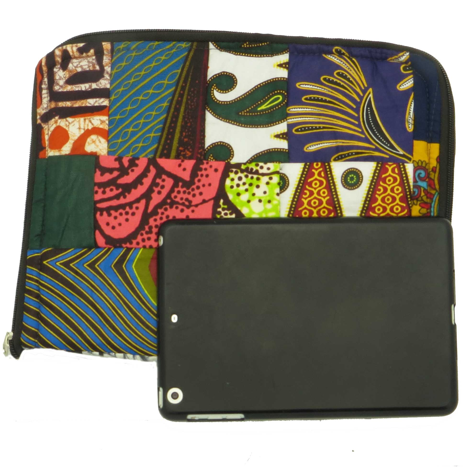 Cloth iPad cover - patchwork