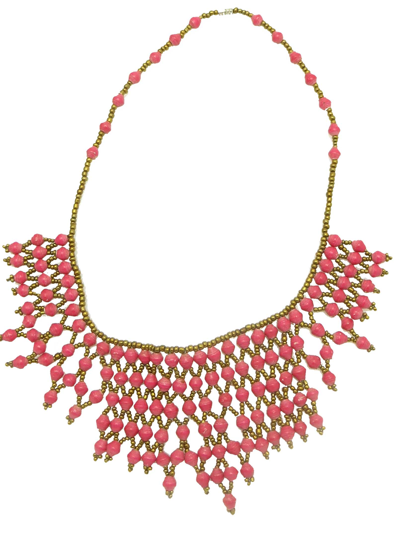 Collar Necklace - hot pink