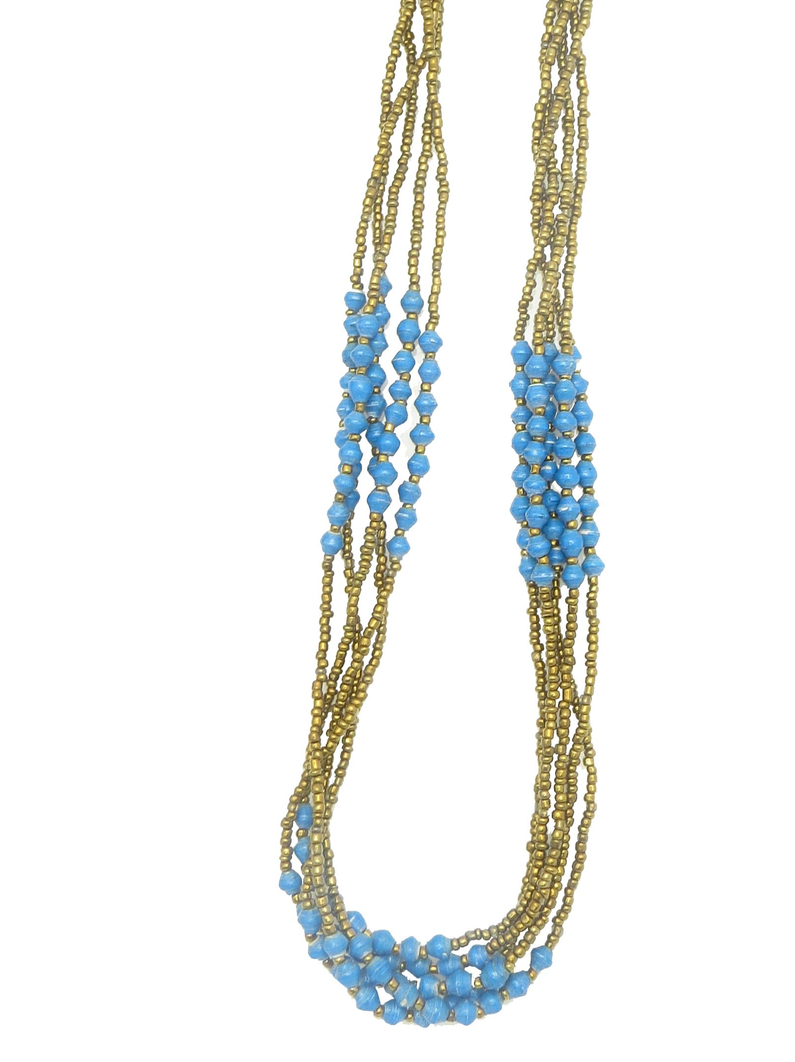 Specialty gold and turquoise necklace