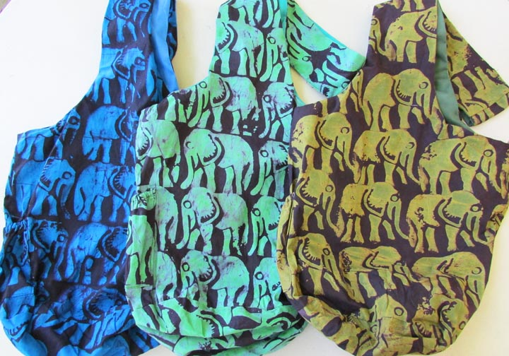 "Sling Bag - ""all over"" elephant - C"