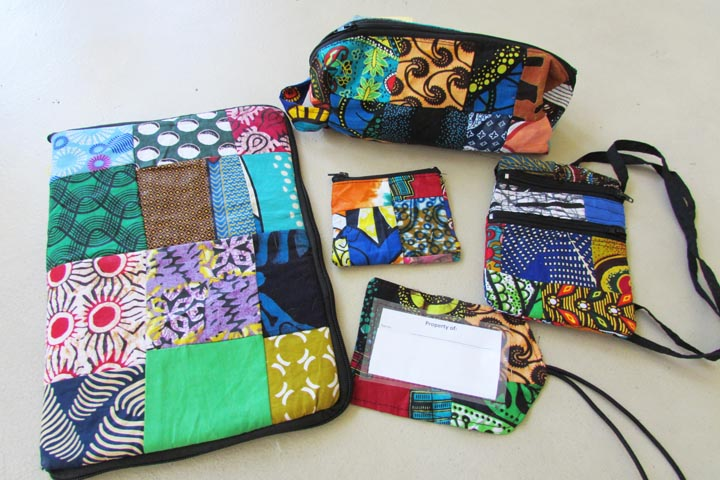 Ipad bag & matching accessories - patchwork