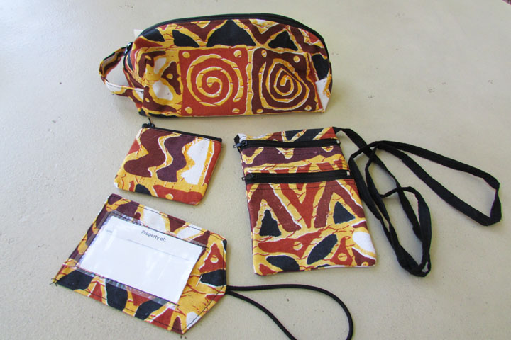 NEW cloth accessory bag sets - africa earth tones