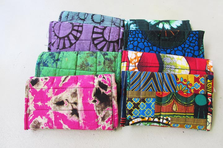 Cloth foldover wallets